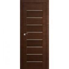 Образец:Дверь Амати 01 2000*800 Экошпон Темный орех Белое стекло,Беларусь
