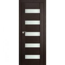 Образец:Дверь Амати 03 2000*800 Экошпон Дуб венге Белое стекло,Беларусь