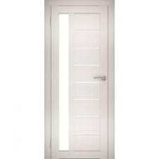 Образец:Дверь Амати 04 2000*800 Экошпон Дуб беленый Черное стекло,Беларусь