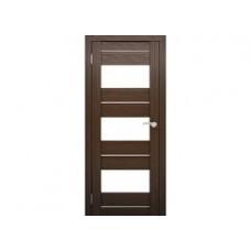 Образец:Дверь Амати 08 2000*800 Экошпон Дуб венге Белое стекло,Беларусь