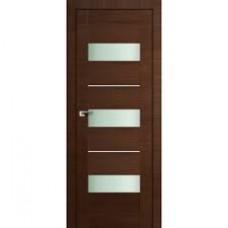 Образец:Дверь Амати 12 2000*800 Экошпон Темный орех Черное стекло,Беларусь